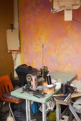 Outdoor artisan workshop