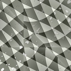 Sharp-cornered abstract wallpaper with water drops.