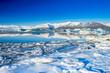 Jokulsarlon, a large glacial lake in southeast Iceland