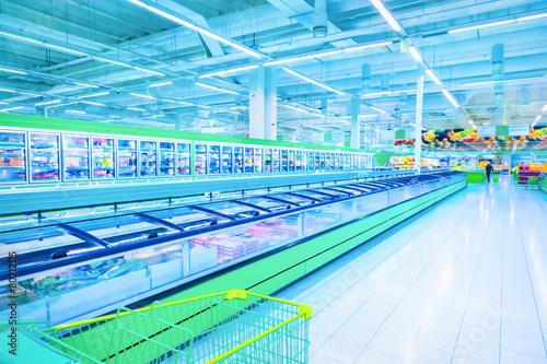 Deurstickers Boodschappen Supermarket