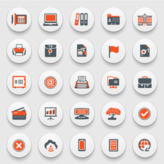Set of web icons for business, e-commerce, marketing.