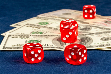 dice game and money