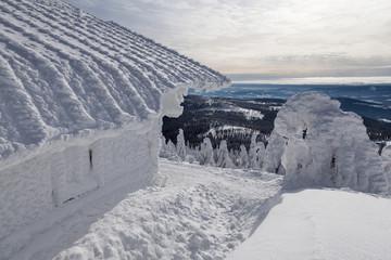 Vereiste Berghütte