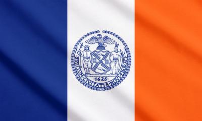 New York City flag waving
