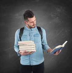 Student reads