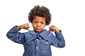 Boy strongman
