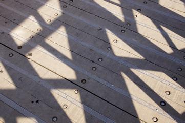 pont en bois surplombant le clain à Poitiers