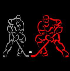 Hockey vector background