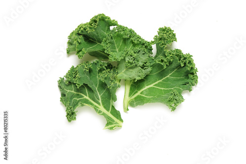 Kale leaves on white - 80215335