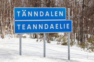 Tänndalen på svenska och samiska