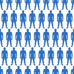 Men silhouette pattern