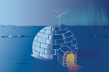 lonely igloo at the North Pole