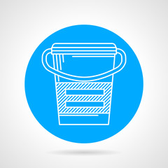 Flat round vector icon for meal replacement