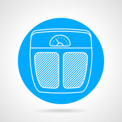 Weigh control flat vector icon
