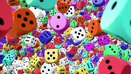 Dice in different colors