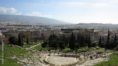 Fotobehang Athene dionysus theater
