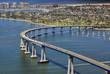 Leinwandbild Motiv San Diego's Coronado Bay Bridge - aerial view