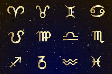 Signs of the zodiac are the starry sky