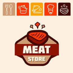 meat store logo