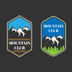 Two vintage mountain labels