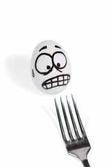 Egg scared fork