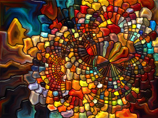 Illusion of Stained Glass