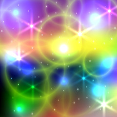 Vector abstract bright blurred  background with circles and