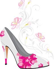 Stylized elegant female shoes