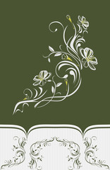 Decorative element with stylized blooming cherry