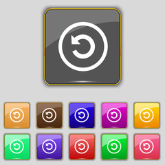 Upgrade, arrow, update icon sign. Set with eleven cVector