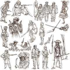 Warriors and Soldiers - Hand drawn pack