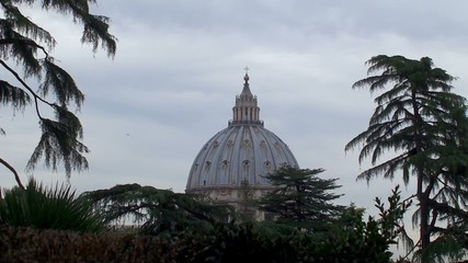 Dome of St. Peter's Basilica from Vatican Gardens.