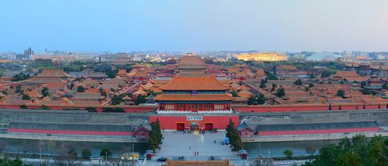 Forbidden City at dusk