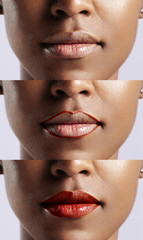 lip tips. african lips. how to use a lip pensil and pipstick