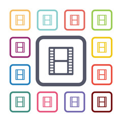film flat icons set