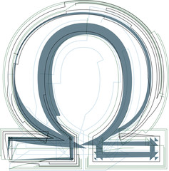 Abstract omega sign
