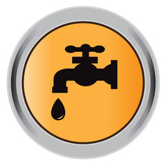 button, water, tap, droplet, illustration, flatvector, icon