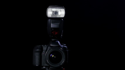 Professional DSLR camera low key footage in 4K UHD