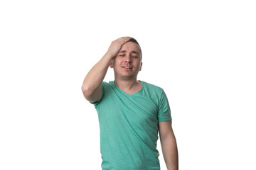 Forgetful Young Man Gesturing With Surprise - Isolated