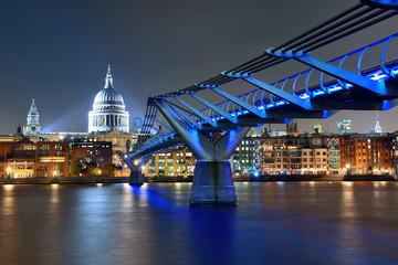 Millennium Bridge and St Pauls
