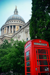 telephone booth and St Pauls