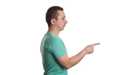 Young Man Pointing At You