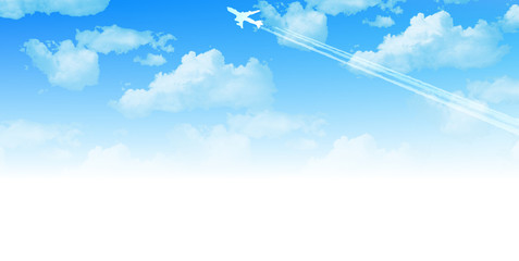 空 飛行機 背景