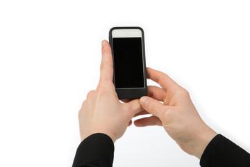 Ein Smartphone in zwei Händen