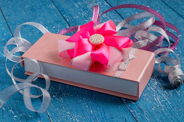 Gift box with bow and ribbons