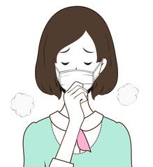 女性 咳 マスク