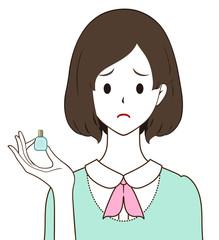 女性 目薬 困り顔