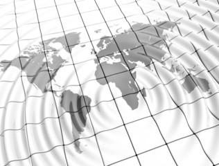 Ripples world map