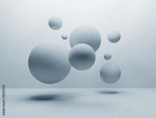 random spheres background