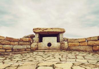 Ancient lunar dolmen on Nexis mountain, Russia